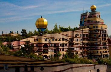 Forêt Spiral - Bâtiment Hundertwasser, Allemagne