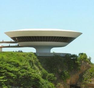 Le Musée d'art contemporain de Niteroi, Brésil